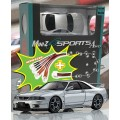 Mini-Z MA020 SPORTS 4WD SKYLINE GTR R33 (KT19) SILVER w/LED SET