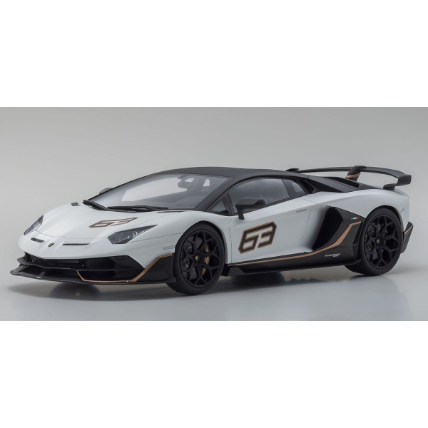 KYOSHO - 1/18 - Lamborghini Aventador SVJ (White) Limited to 500 units