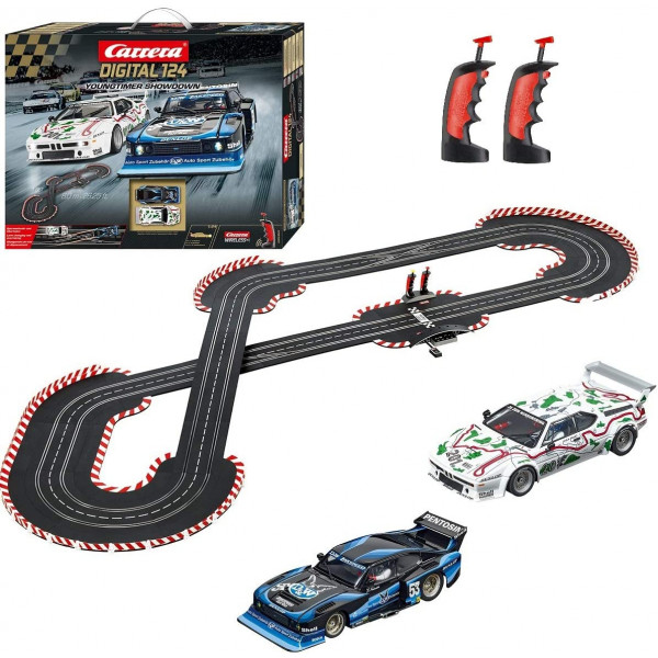 Carrera Toys Showtown Carrera Digital 124 Pista Youngtimer SHOWSOWN Colorata