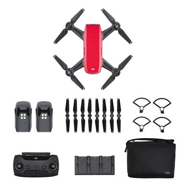DJI Spark Fly More Combo Rosso
