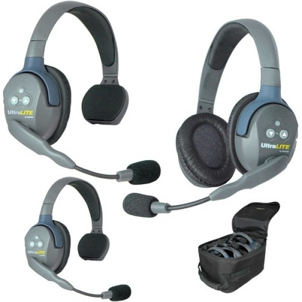 UltraLITE 3 PERSON SYSTEM (w/3 SINGLE HEADSETS, BATT/CHARG)