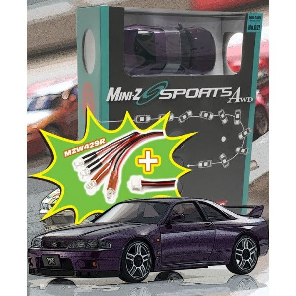 Mini-Z MA020 SPORTS 4WD SKYLINE GTR R33 (KT19) PURPLE w/LED SET