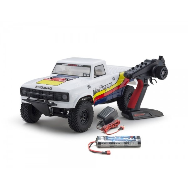OUTLAW RAMPAGE 1:10 EP 2WD TRUCK (KT231P) T1 BIANCO READYSET