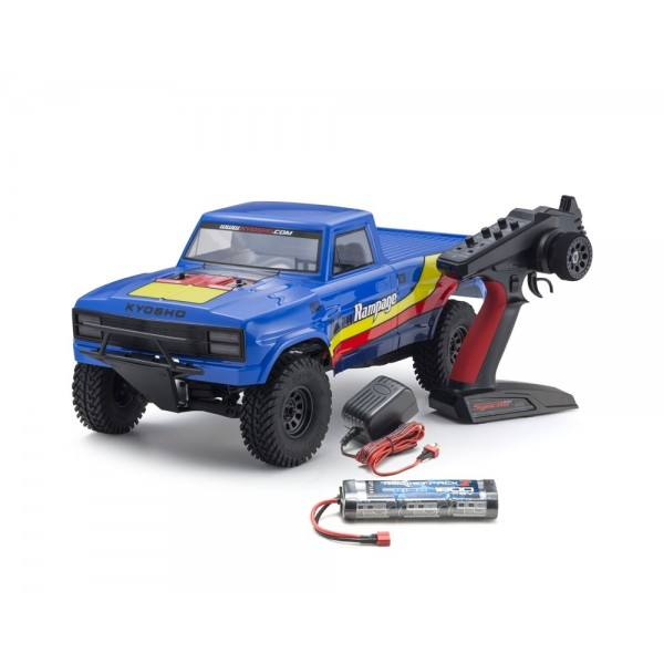 OUTLAW RAMPAGE 1:10 EP 2WD TRUCK (KT231P) T2 AZUR READYSET