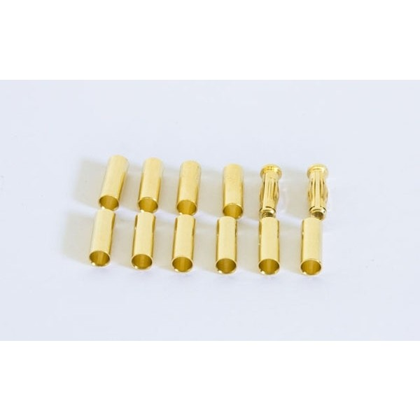 CONNETTORI 4MM GOLD + TUBES GOLD (SET 2 + 10)