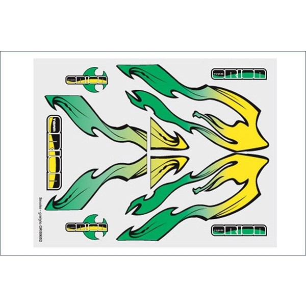 DECALS  FUME, VERDE, GIALLO