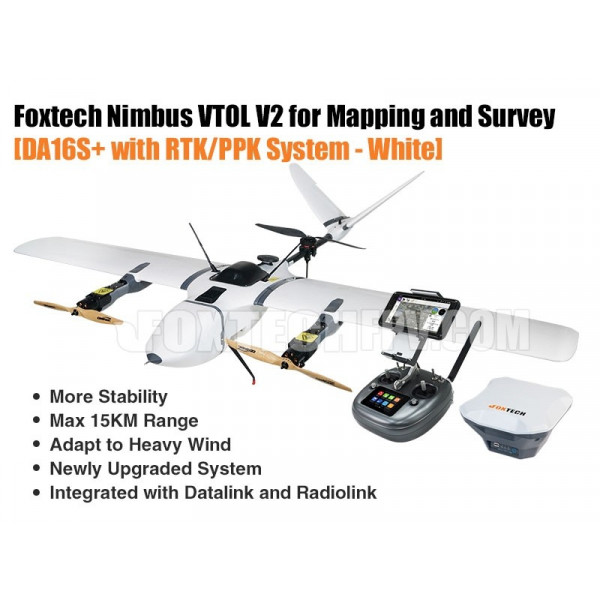 Foxtech Nimbus VTOL V2 RTK/PPK for Mapping and Survey  White Version