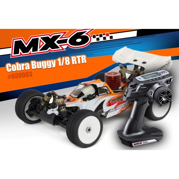 SERPENT COBRA BUGGY B-GP 1/8 RTR WITH SANWA MX6