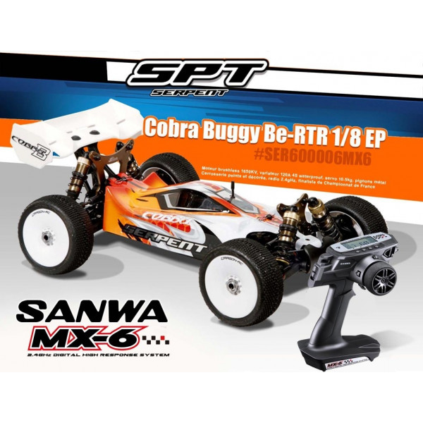 Serpent Buggy Brushless 1/8 RTR with Sanwa MX6